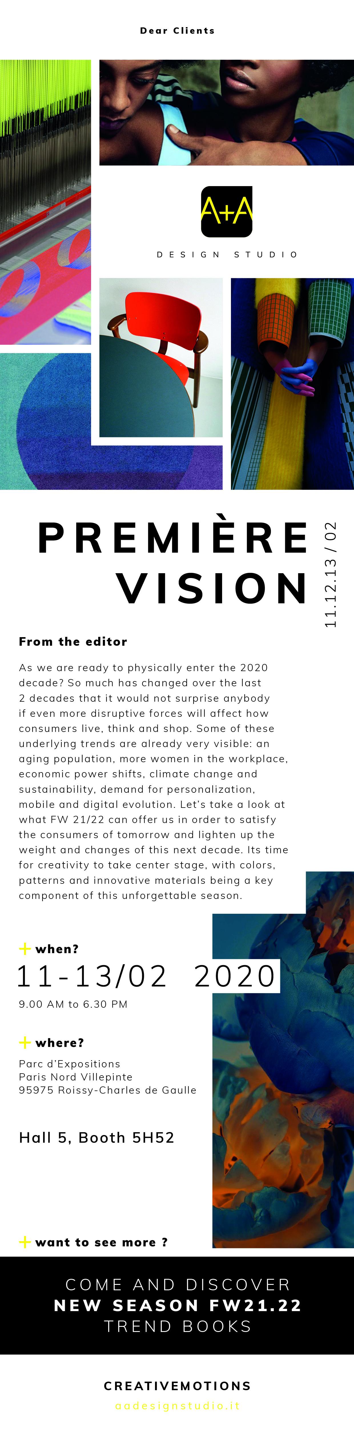 Première Vision FW21.22 - Invito Febbraio2020